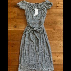 NWT Striped Off Shoulder Midi Dress